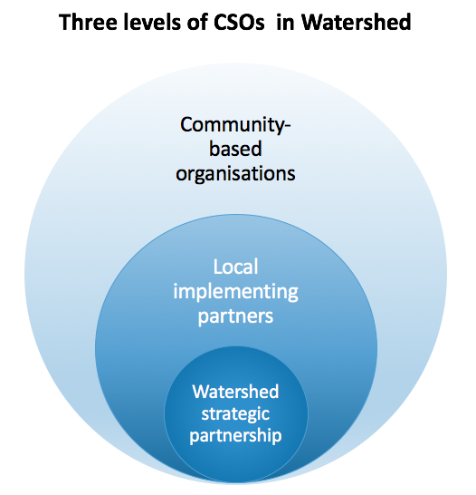 Three levels of CSOs in Watershed